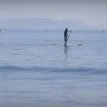 【海外の反応】「パドルサーフィン大好き!」江ノ島のビーチに旅行に行った動画